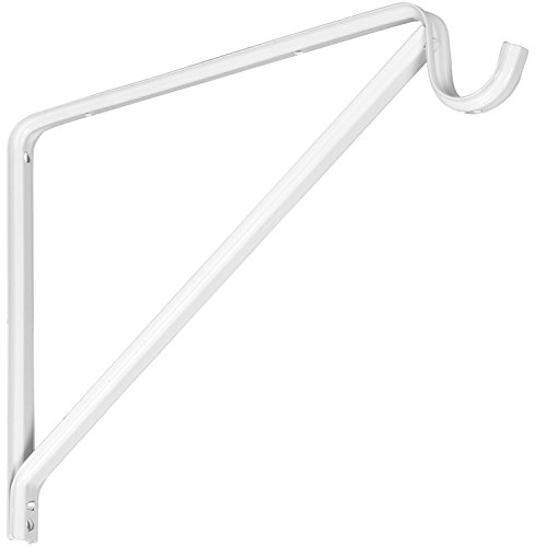 Stanley Hardware S193-001 7048 Standard Duty  Shelf and Closet Rod Support in White Coated (Brace Rod)