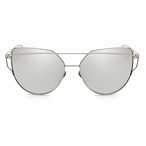 forepin Metal Polarizadas Gafas reg; 07 de Protección UV400 Espejo Planos Ojo Estilo Marca Sol Gato Mujer y Lentes Hombre Moda de Color de Con qvq0rdxw