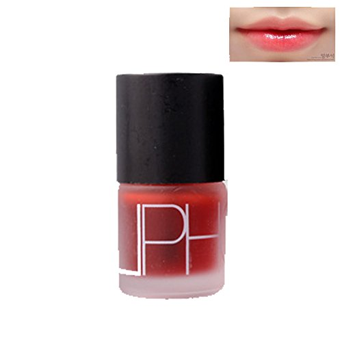 Molie Liquid Cherry Pink Lip Tint Stain Magic Lip Plumper Nature Long Lasting Moisturizing Matte Lipstick (1 Piece)