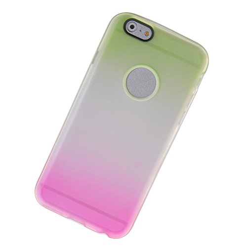 MOONCASE TPU Silicone Housse Coque Etui Gel Case Cover Pour Apple iPhone 6 Plus Rose Jaune