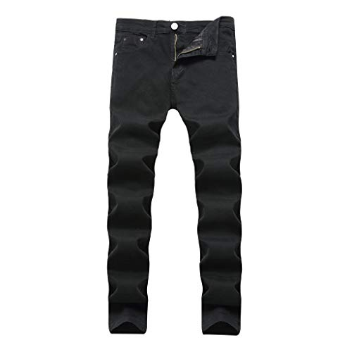 - NUWFOR Men's Fashion Slim Fit Personality Stretchy Casual Solid Jeans Denim Pants(Black,US:29 Waist:29.53