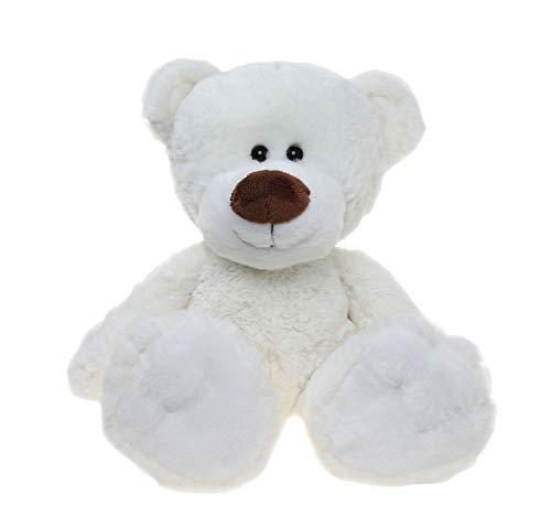 Tiktoy White Teddy Bear Plush Stuffed Animals, 11 Inches
