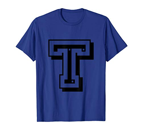 Letter T Initial T-Shirt for Names or Spelling Words (Car Brands That Start With The Letter T)