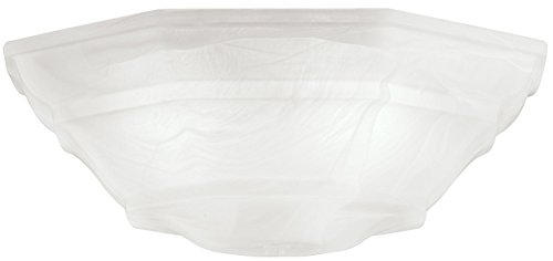 Kichler Lighting 340103 Universal Bowl Glass Shade, White Alabaster (Ceiling Fan Replacement Glass compare prices)