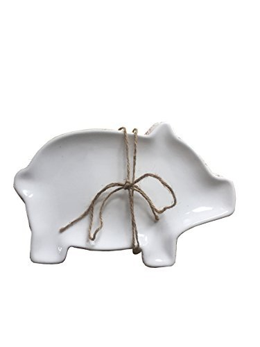 Pig Shaped Appetizer Plates/ Set of 2 -