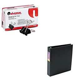 KITAVE79991UNV10200 - Value Kit - Avery Heavy-Duty Binder with One Touch EZD Rings (AVE79991) and Universal Small Binder Clips (UNV10200)
