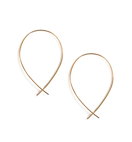 April Soderstrom Featherweight Small Fish Hoop Earrings, Gold