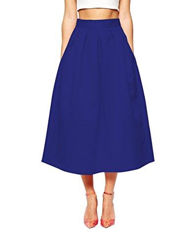 avec Femme Vintage Jupe Haille Saphir Blau Haute CoutureBridal Poches Elgante au Genou Jupe zBwdRRqf