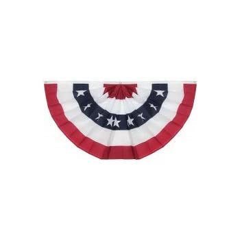3x6 Ft Windstrong® US American Flag Bunting Half Fan