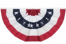 - 3x6 Ft Windstrong® US American Flag Bunting Half Fan Fully Pleated Poly/Cotton 100% MADE IN THE USA SATISFACTION GUARANTEED