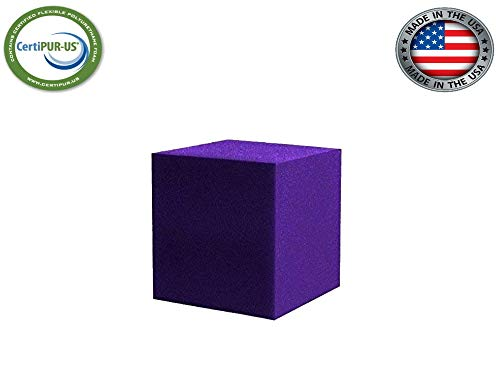 Isellfoam Foam Pit Cubes/Blocks 500 pcs. (Purple) 5″x5″x5″ (1536) Flame Retardant Pit Foam Blocks for Skateboard Parks, Gymnastics Companies, and Trampoline Arenas