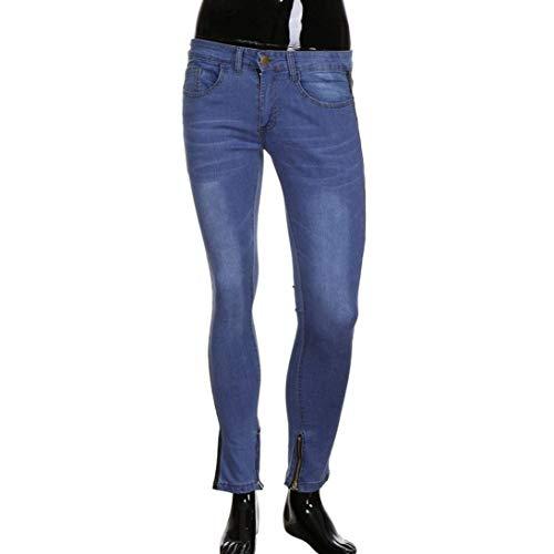 Biker Comodo Zipper Sfilacciato R Battercake Pantaloni Fashion Stretch Fit Distressed Denim Nero Deim Torn Slim Pants Tempo Jeans Men's Libero Nener Uomo Casual AOAqUZ