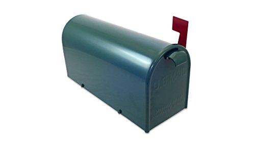 Lazy Hill Farm Designs 999197 Bristol Mailbox Hand Fabricated Green, 10-Inch High by 8-Inch Wide by 21-Inch Depth