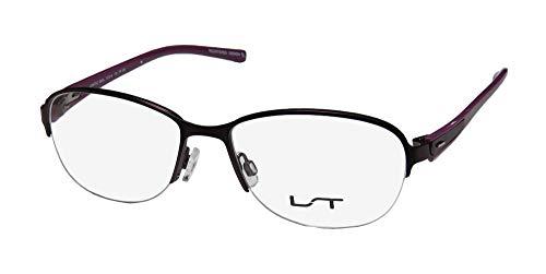 Lightec 6963l Womens/Ladies Rx-able Popular Design Designer Half-rim Spring Hinges Eyeglasses/Spectacles (53-16-135, Violet) (53 16 135)