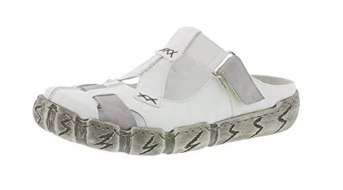Jardín Rieker L0395 Weiss Mujer 80 cement Plataforma Mulas bianco Suela zapatillas De 6qrSXAfqwn