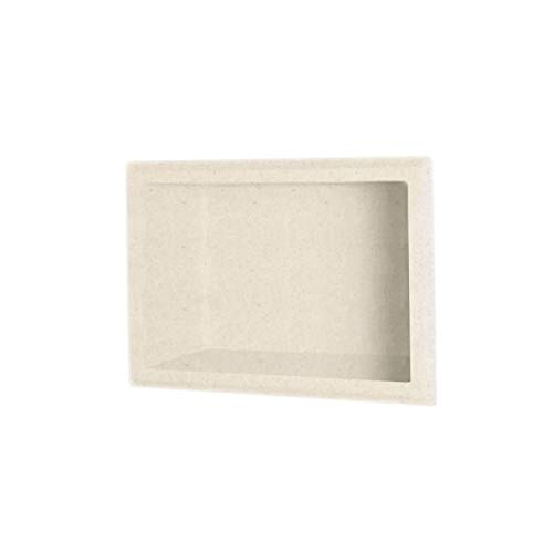 "Swanstone AS01075.051 Solid Surface Single Shower Shelf, 4.125"" L x 7.5"" H x 10.75"" H, Tahiti Sand"