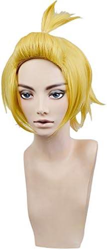 アーサー・ボイル 風 コスプレウィッグ 耐熱ウィッグ 変装用ウィッグ cosplay wig かつら 専用ネット付 ゴールド