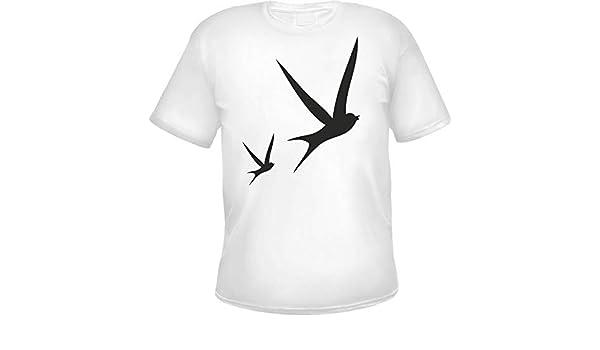 Camiseta de Golondrinas para Hombre Blanco XL: Amazon.es: Ropa y accesorios