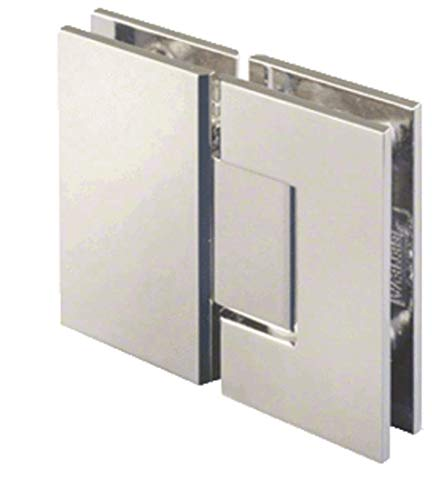 CRL Geneva 180 Series Polished Nickel 180186; Glass-To-Glass Standard Hinge