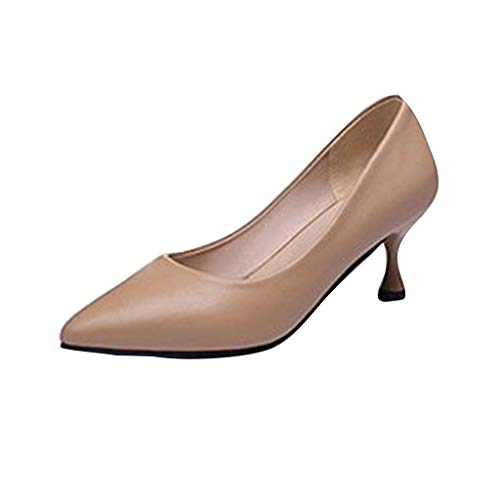 GHrcvdhw Summer Classic Sexy Stylish Womens Shoes Formal High-Heeled Tip Shoes Nude Shoes