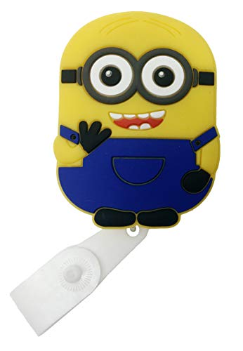 Cartoon Retractable Badge Reel - Holder for ID and Name Tag with Belt Clip, Improved Reel & Strap (Minion) -