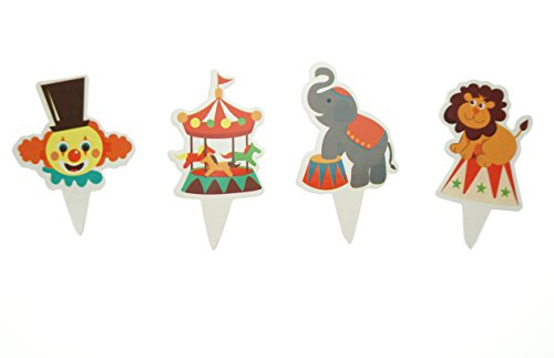 Bilipala Party Circus Animal Cake Cupcake Decorations Toppers