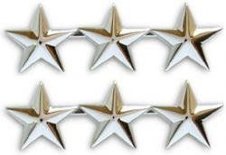 Navy Admiral 3 Star Collar Device Rank Insignia Pair ()
