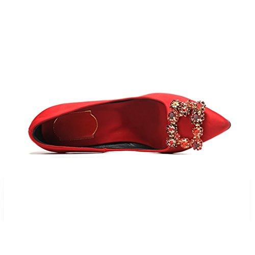 Moda Matrimonio Il Festa 6cm Fatto sulle per Donna Sunny Vestito Alto Red Scarpe Estremo Mano a 48qtwz