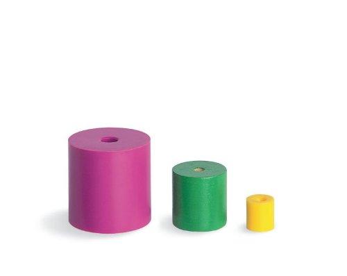(JUMBO PLASTIC BEADS 100-PK 1-1/2 FOUR SHAPES SIX COLORS LACES)
