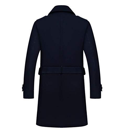 Uomo Uomo Pioggia Giacche Giovane Coat Coat Saoye A Coat Cappotto con Tradizionale Fashion Slim Petto Capispalla Schwarz Trench da da Doppio qZFBEwnOZ