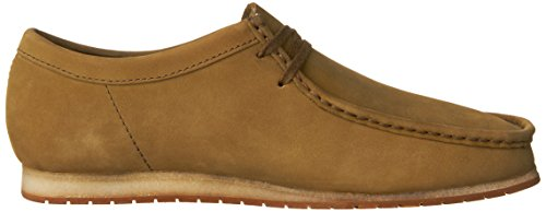 Clarks Mens Wallabee Steg Loafers Skor Oliv Nubuck