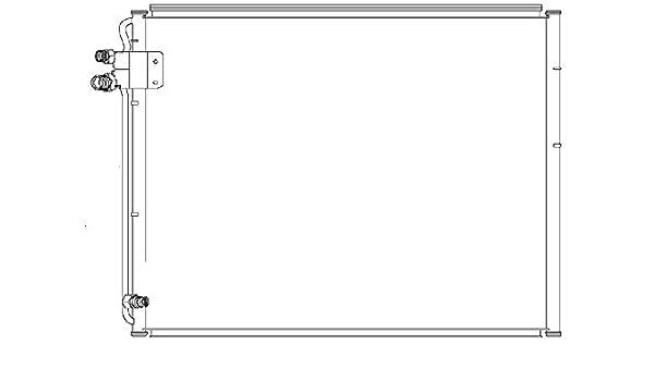 Behr Hella Service 351037161 CONDENSER A//C MB A//C Condenser