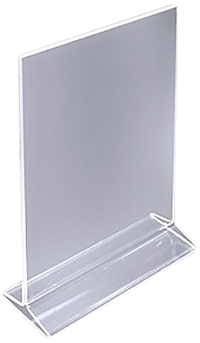 Amazoncom ChefLand X Acrylic Sign Holder Clear Table - Acrylic menu table tent holders