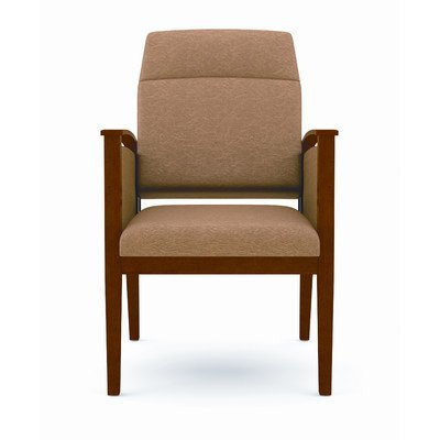 Amherst Motion Chair with Extended Back Fabric: Perk - Flint, Frame Finish: - Transitional Lesro Seating Reception