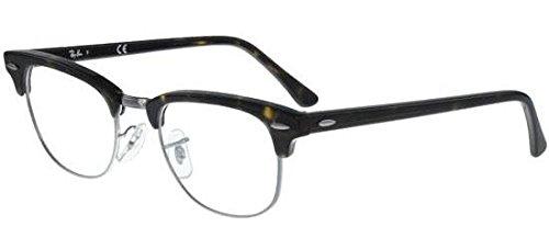 Ray-Ban Unisex RX5154 Clubmaster Eyeglasses Dark Havana ()