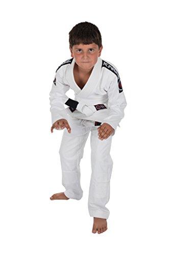 Kingz KIDS BASIC 2.0 JIU JITSU GI - WHITE - W/ FREE WHITE BELT - M4