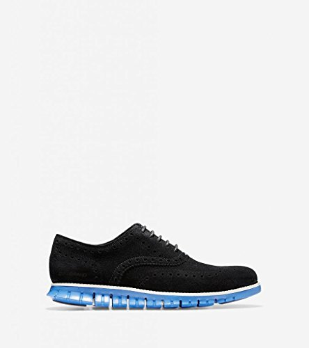 Cole Haan Hombres Zerogrand Wing Oxford Black / Desert Blue