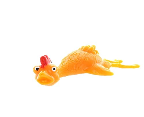 Rhode Island Novelty Rubber Sling Shot Chickens- 4.5Inches Long | Pack of 12 -
