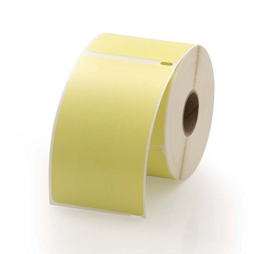 Dymo Compatible LV-30256Y Yellow Shipping Labels - 300 labels per roll, 1 roll per package