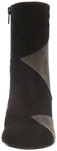 Gabor Kvinners Freeman Moderne Ankelstøvletter Svart Semsket Skinn / Multi