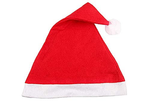 12pcs Christmas Santa Hat,Economical Traditional Red&White Xmas Santa Claus' Cap for Holiday Party(Upgraded The Size&Material in 2018) -