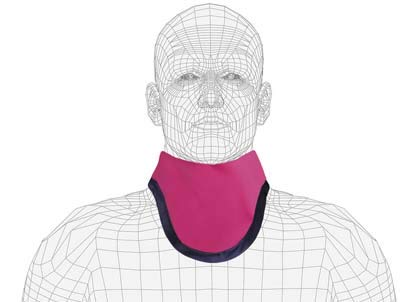 Mid-Binding Unattached Thyroid Collar, Regular Lead, 0.5mm Pb Lead Equivalency,Berry