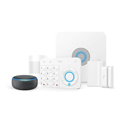 Ring Alarm 5 Piece Kit + Echo Dot (3rd Gen), Works with Alexa