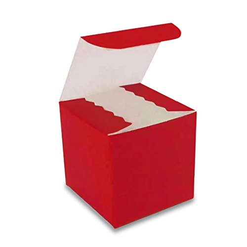 Red Gloss Gift Boxes - 4 x 4 x 4 (10)