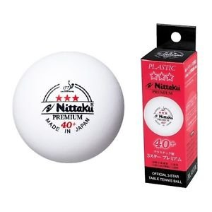 Nittaku 3-Star PREMIUM 40+ Table Tennis Balls Plastic Ball Cell-Free (Outdoor Electronic Scoreboard)