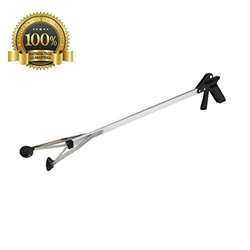 COJOY Suction Cup Reacher Grabber - 32'' Heavy Duty Mobility Aid - Tool for Light Bulb Remover Ipad Pick up Litter Picker Trash Garbage Garden Nabber Long Extender