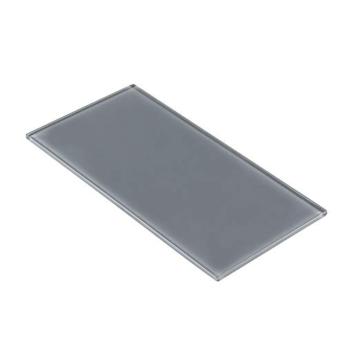 MTO0299 Classic Subway Brick Gray Glossy Glass Tile by Mosaic Tile Outlet (Image #1)