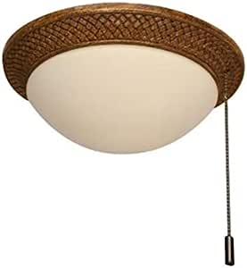 Harbor Breeze Tilghman Ii 2 Light Bronze Led Ceiling Fan Light Kit With White Frost Shade