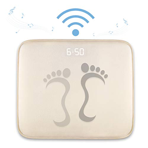 DAPRIL Alarm Clock for Heavy Sleepers,Instecho Rug Carpet Alarm Clock - Digital Display,Pressure Sensitive Alarm Clock with The Softest Touch for Modern Home