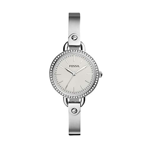 Fossil Women's 'Classic Minute' Quartz Stainless Steel Watch, Color:Silver-Toned (Model: BQ3162)